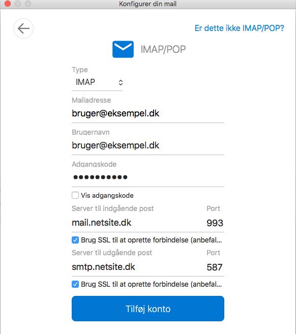 Outlook til Mac - Guide til opsætning af din e-mail